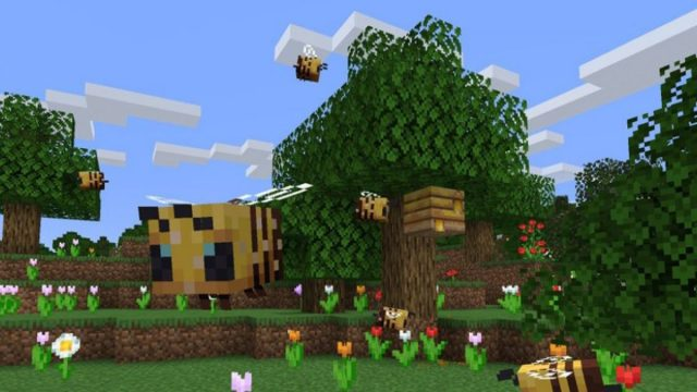 Minecraft bees: how to find bees and harvest honey  PCGamesN