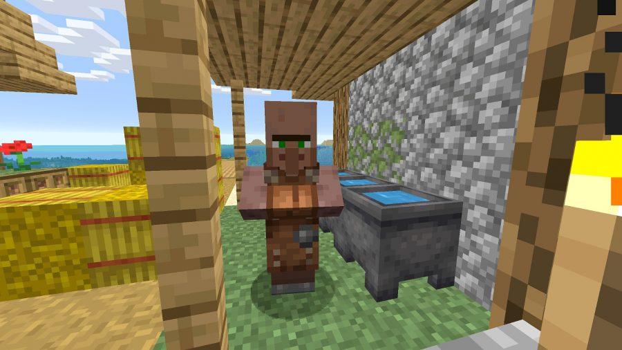 Minecraft blacksmith villager