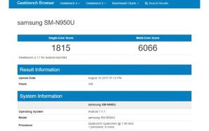 Samsung Galaxy Note 8 já anda pelos sites de benchmarks