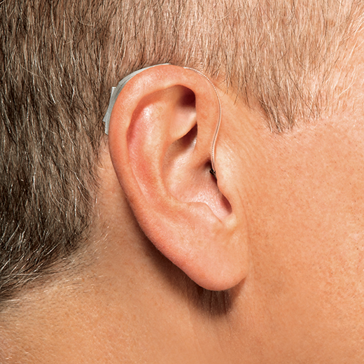 Receiver in the ear hearing aid on ear
