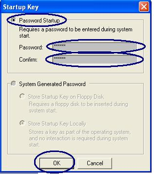 Start up password
