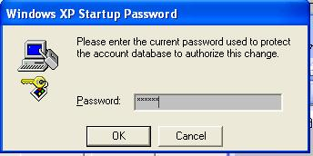 Start up password
