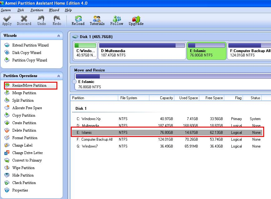 Aomei Partition Assistant Home Edition 4.0 3