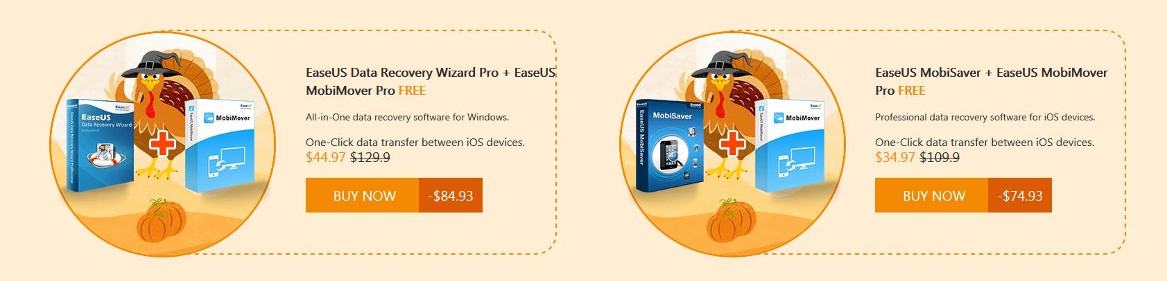 EaseUS Data Recovery Wizard Pro + EaseUS MobiMover Pro FREE