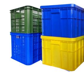 塑膠搬運箱 儲運箱-沛澄塑膠箱籃 塑膠棧板 物流台車