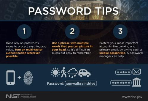 NIST's password tips