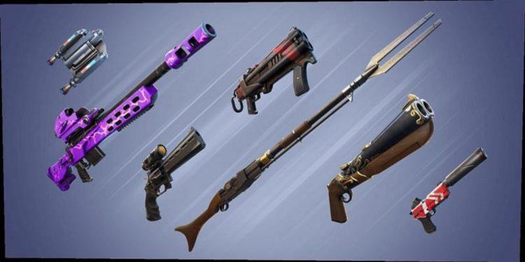 Fortnite Exotic Weapons actualización v15.40 Flint-Knock Pistol