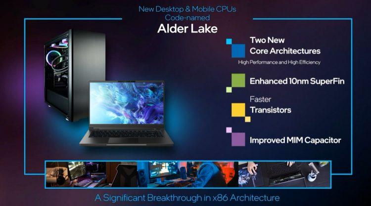 intel alder lake release date 10nm performance gaming cpu
