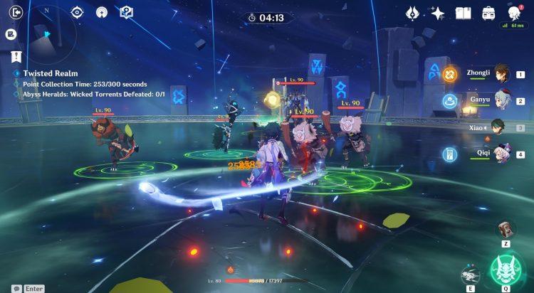 Genshin Impact Twisted Realm Dominio de la herejía Abyss Herald Wicked Torrents Amplificador de energía Modificador Cristales Guía 1