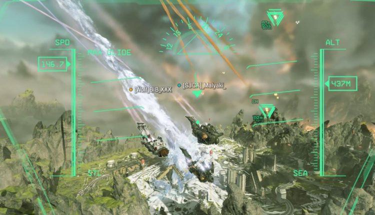 Jet Fighter Hud muestra rango de enemigos