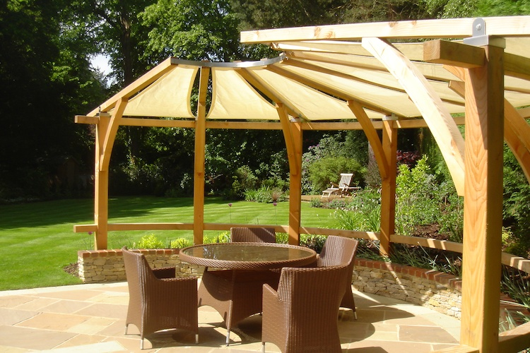 Timber Pergola In Farnham Pc Landscapes