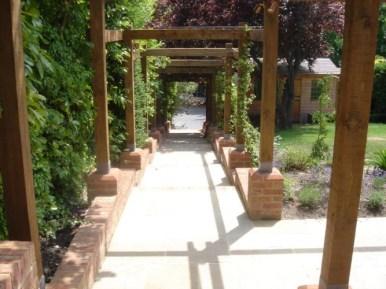 Timber pergola in Guildford