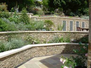 Dry stone wall effect