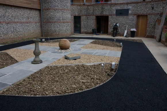 Hampshire rubber crumb surfacing finished
