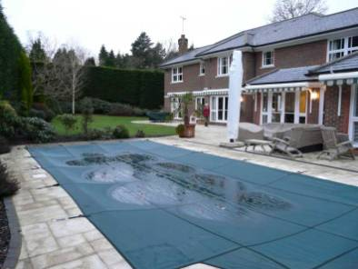 Before Travetine paving was laid