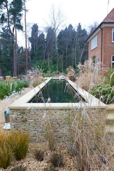 Water feature in Farnham