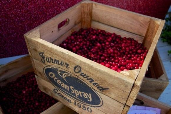 Crate of cranberries