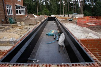 construction of water feature