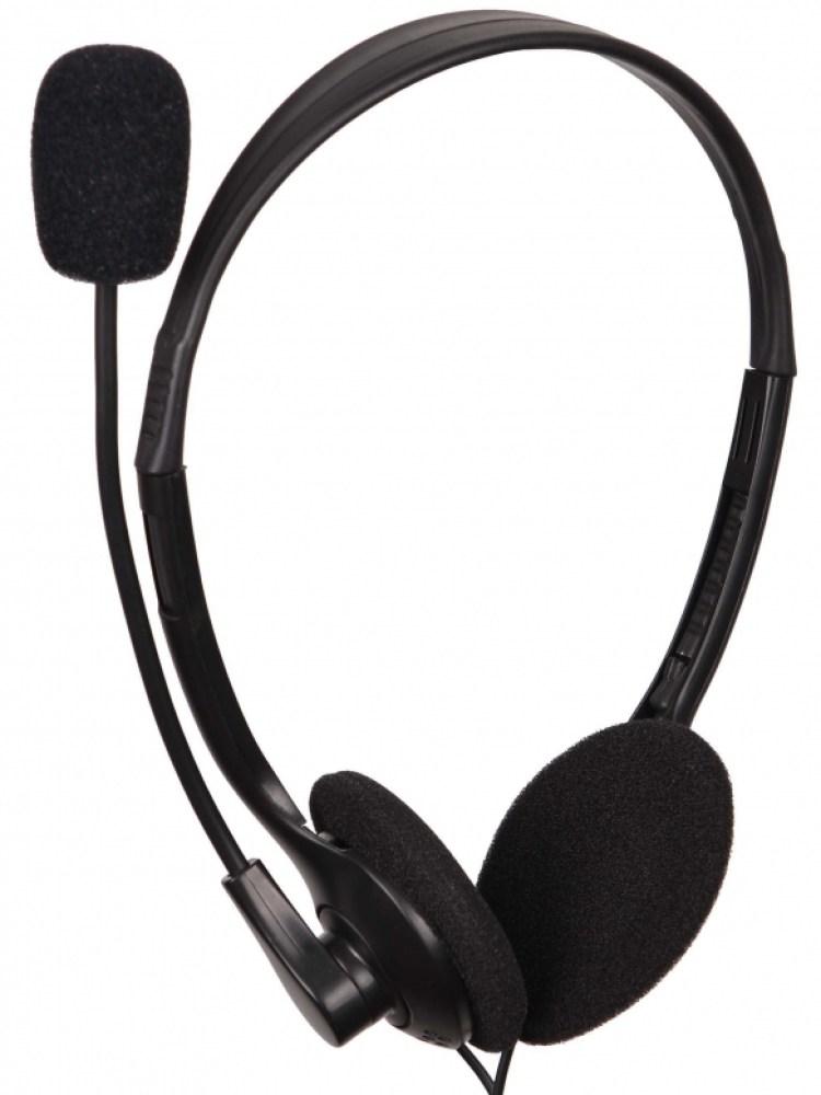 Casti clasice cu microfon, control volum, Black Gembird 'MHS-123'