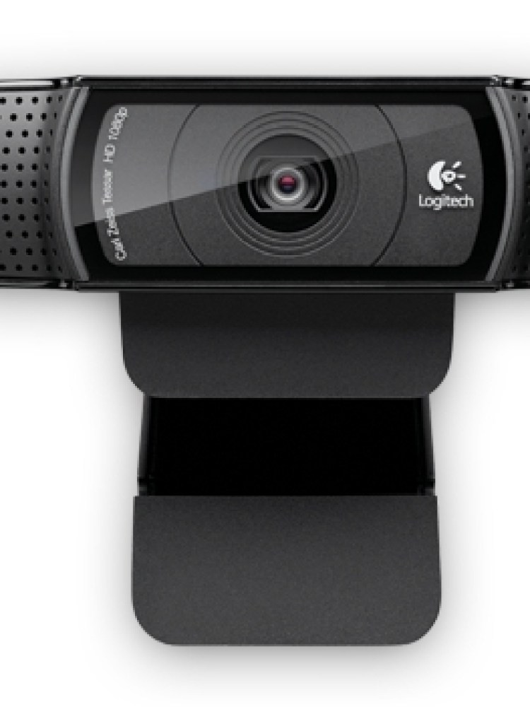 CAMERA WEB Logitech Webcam C920, FullHD 1920x1080, 15MP Sensor, Microfon, Carl Zeiss lens, USB 2.0 '960-000768'  (include timbru verde 0.01 lei)