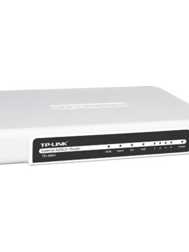 ROUTER cu management, TP-LINK model: External ADSL2; WIRELESS; PORTURI: 4 x RJ-45 ; 'TD-8841'