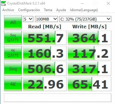 MSI GE72 Apache Pro - CRYSTALDISKMARK SSD