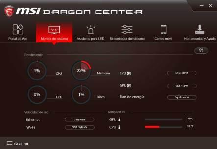 MSI GE72 Apache Pro - MSI DRAGON CENTER (2)