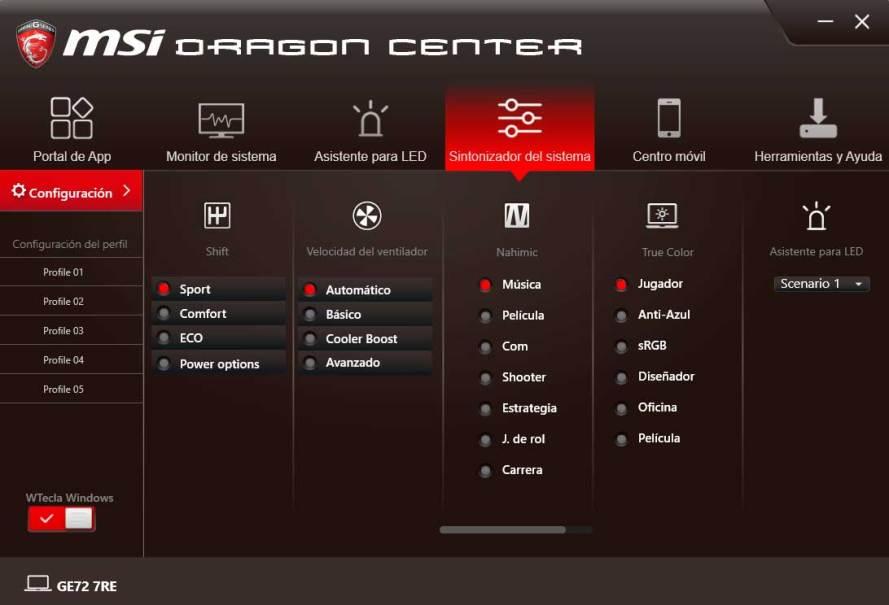 MSI GE72 Apache Pro - MSI DRAGON CENTER (4)
