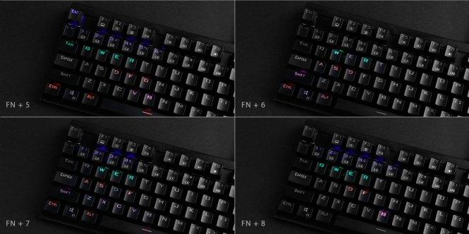 Aukey KM-G6 Análisis Iluminación (2)