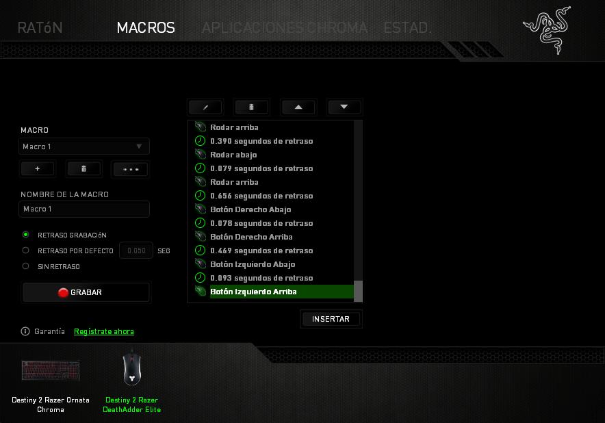 Destiny 2 Razer Deathadder Elite