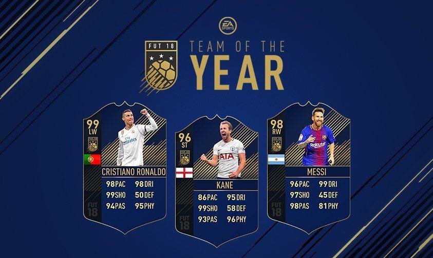 mejores delanteros del año en FIFA 18