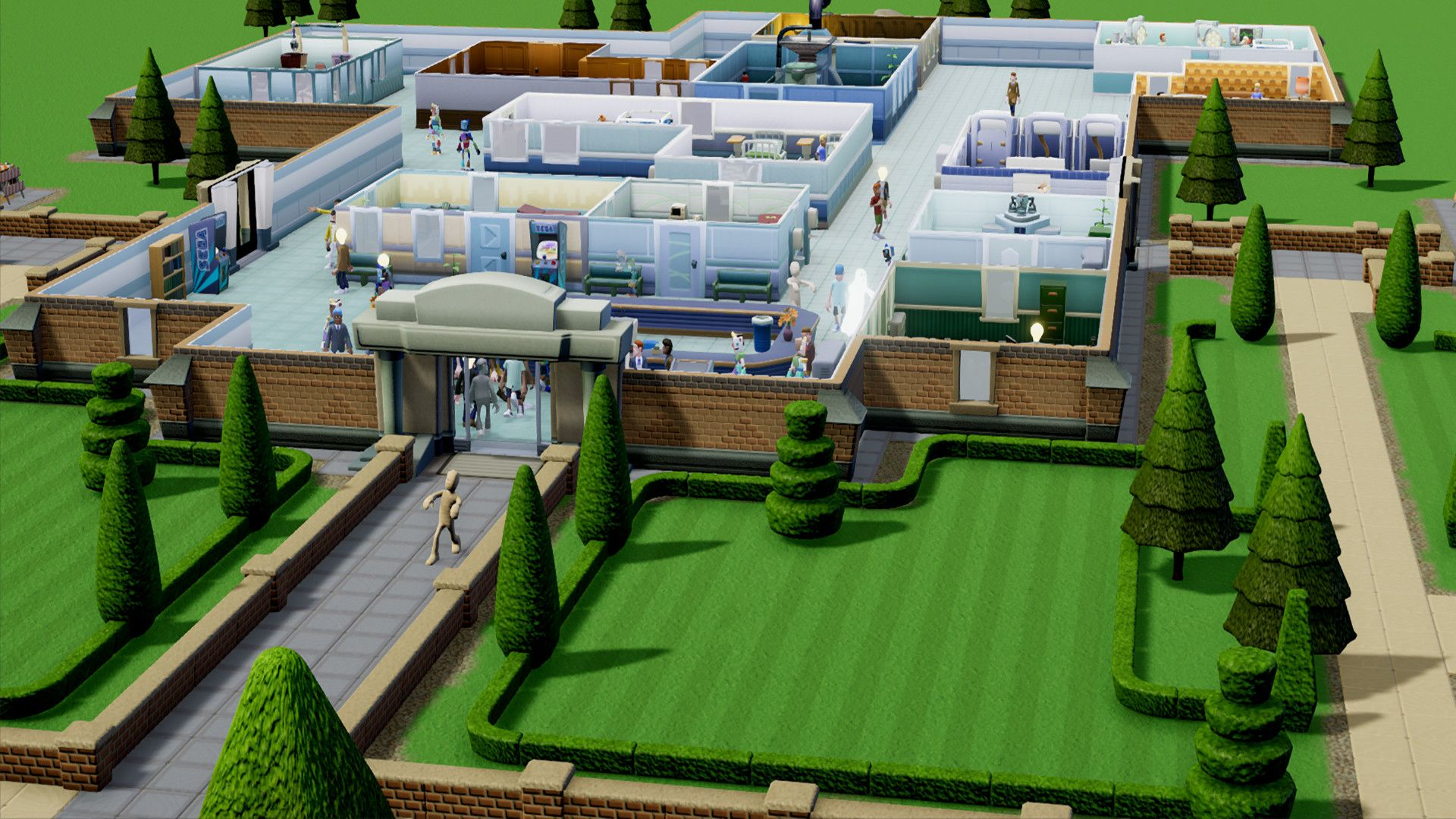 primer gameplay de Two Point Hospital