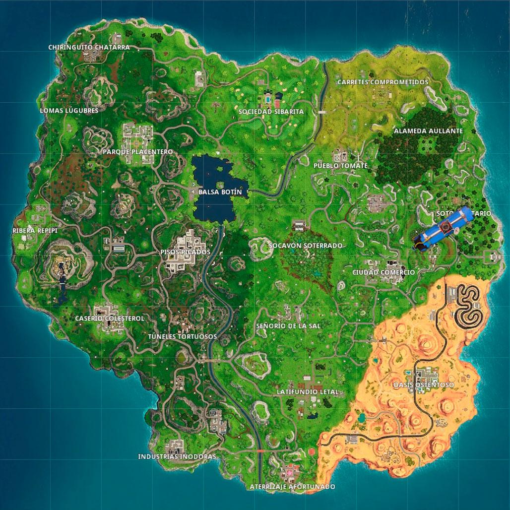 Mapa Temporada 5 Fortnite