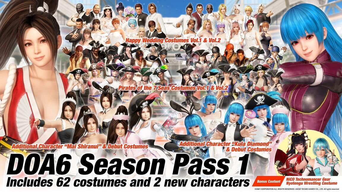 Dead or Alive 6 Personajes