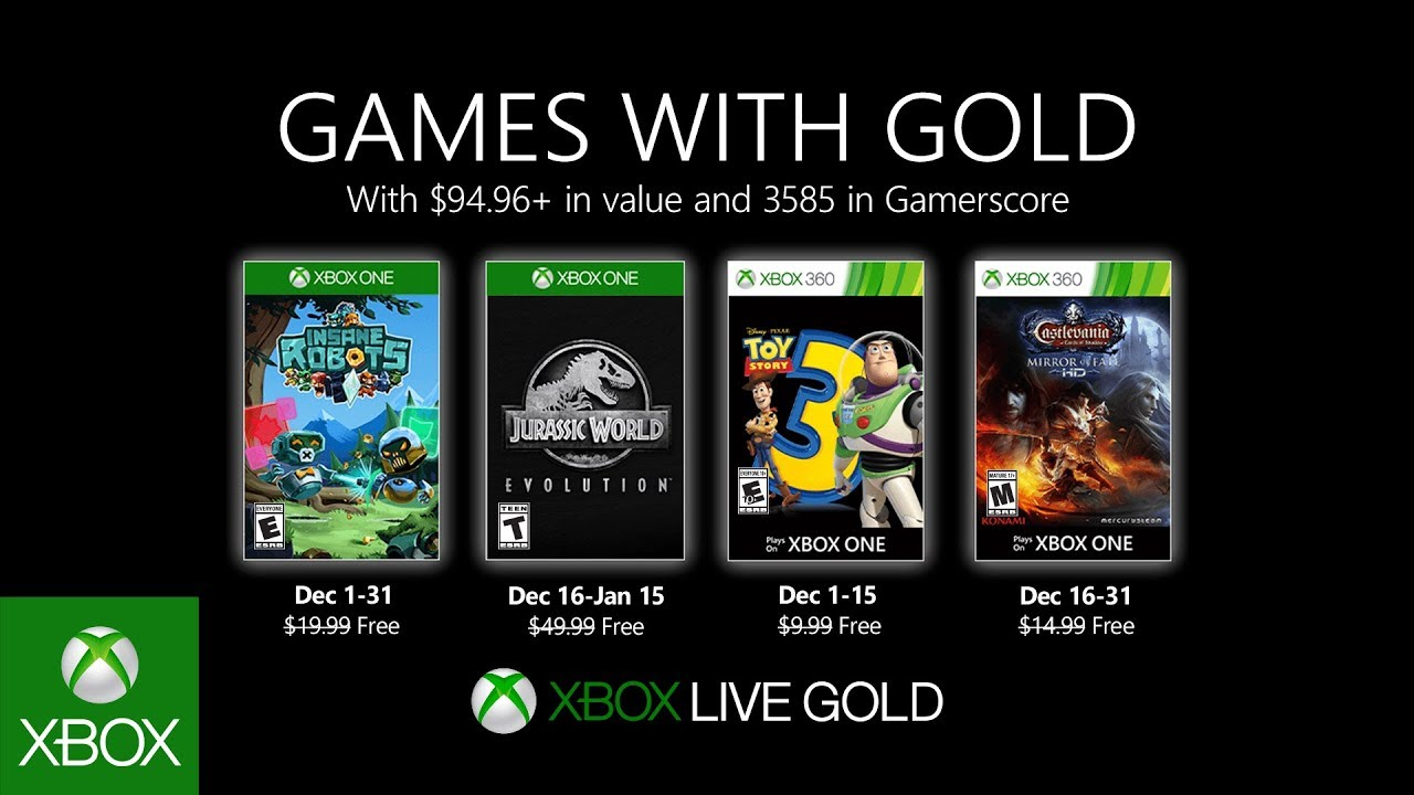 Xbox Gold Diciembre 2019