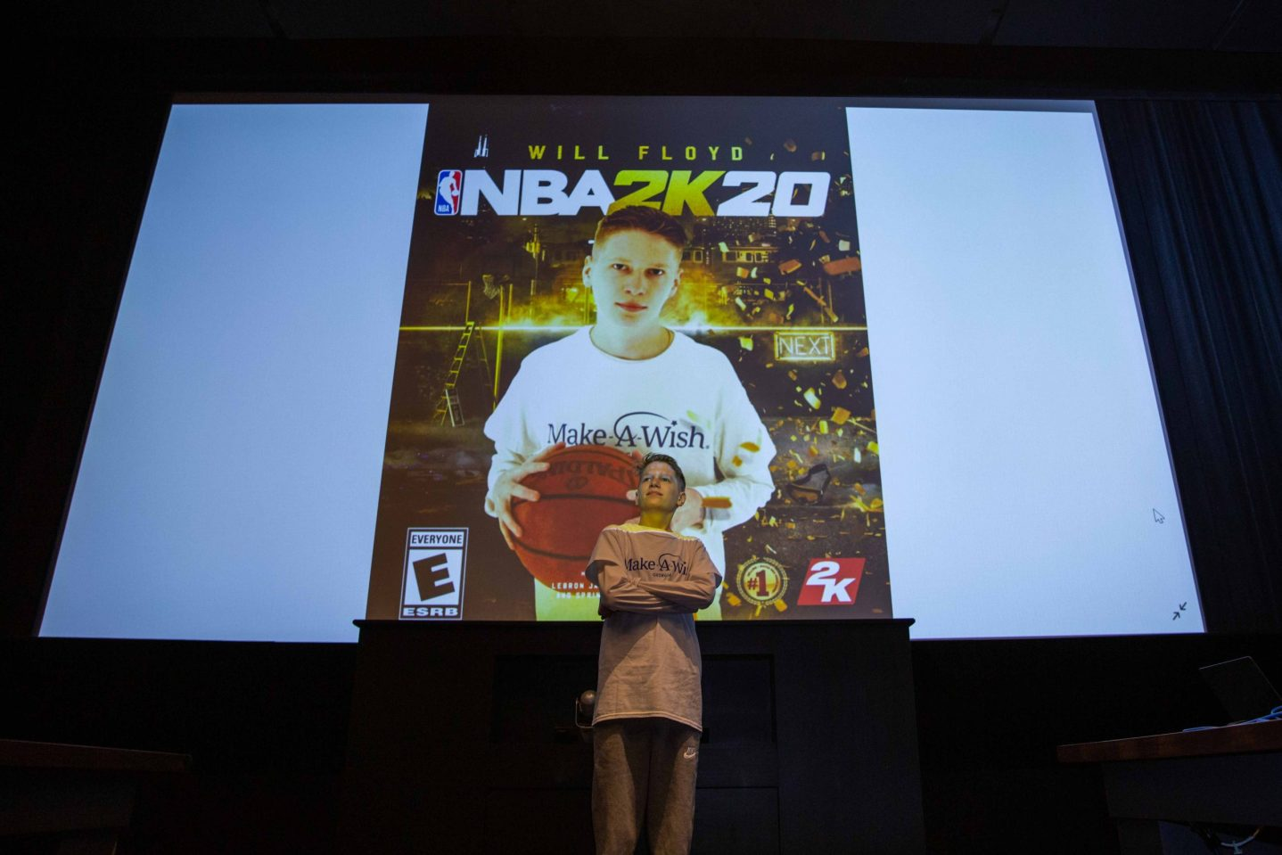 Make A Wish and NBA 2K William Cover Athlete scaled