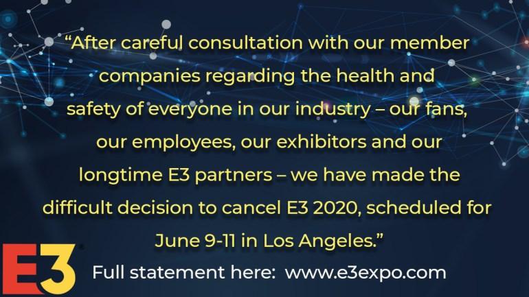 Cancelado el E3 2020