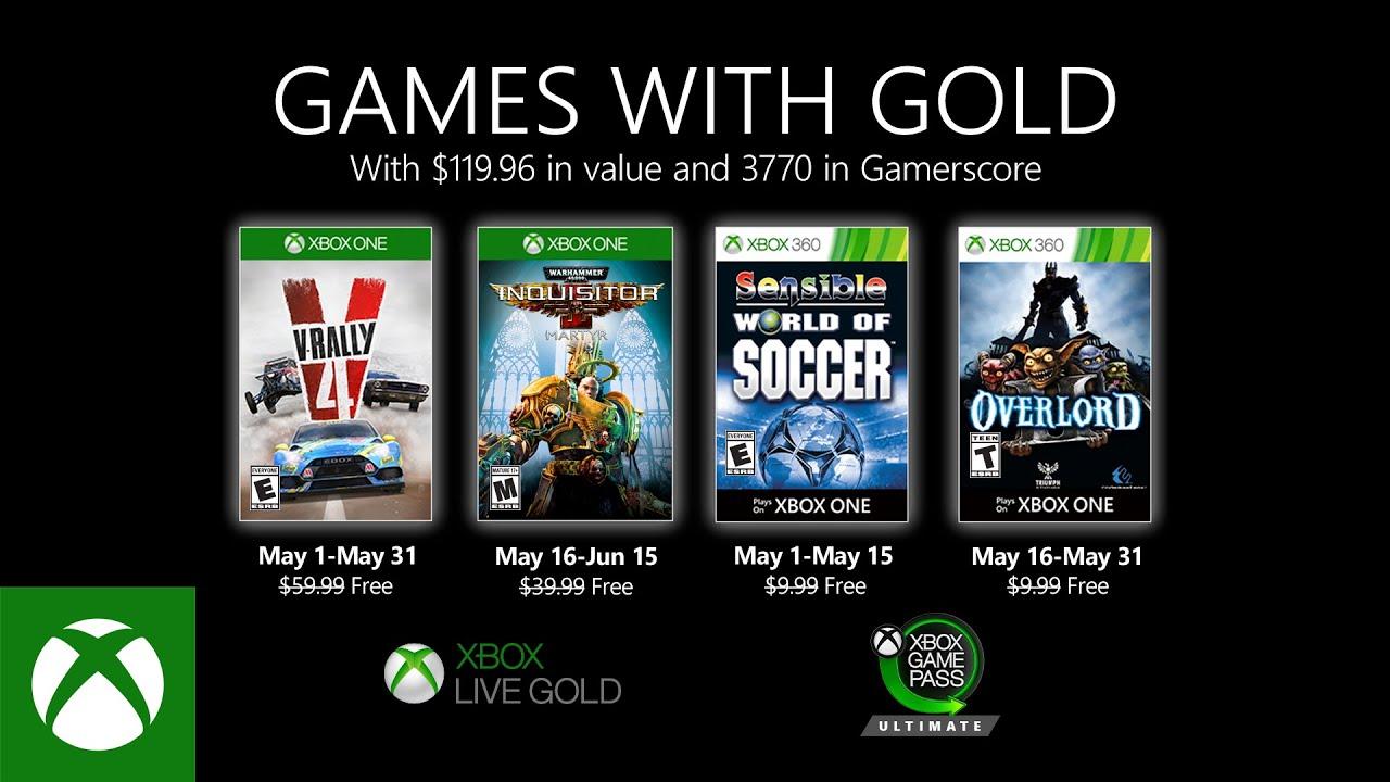 Xbox Gold Mayo 2020 v2