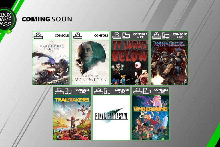 Xbox Game Pass en agosto de 2020
