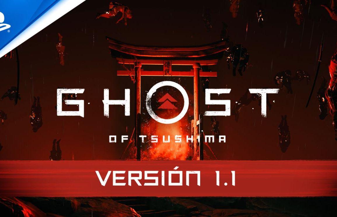 actualización 1.1. de Ghost of Tsushima