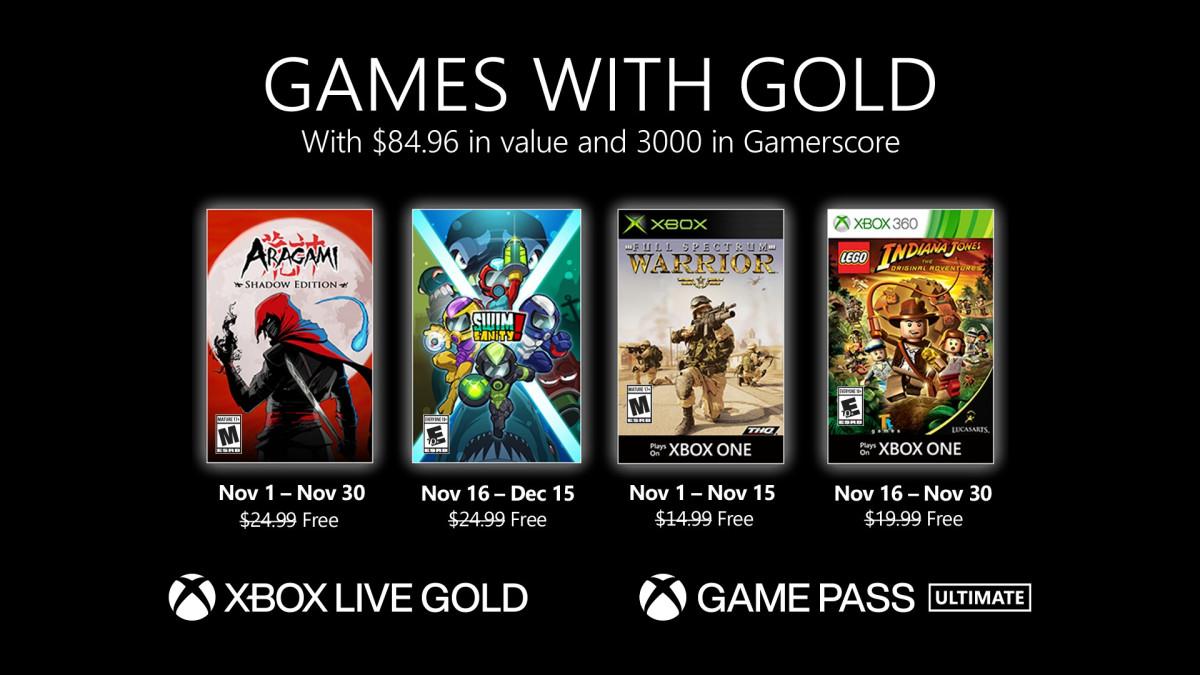 Xbox Gold de noviembre 2020