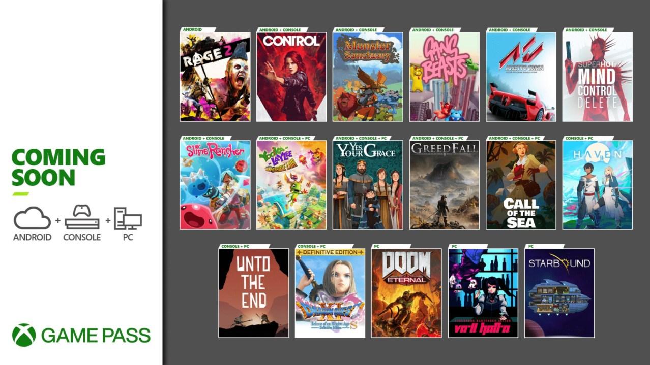 Xbox Game Pass de diciembre 2020