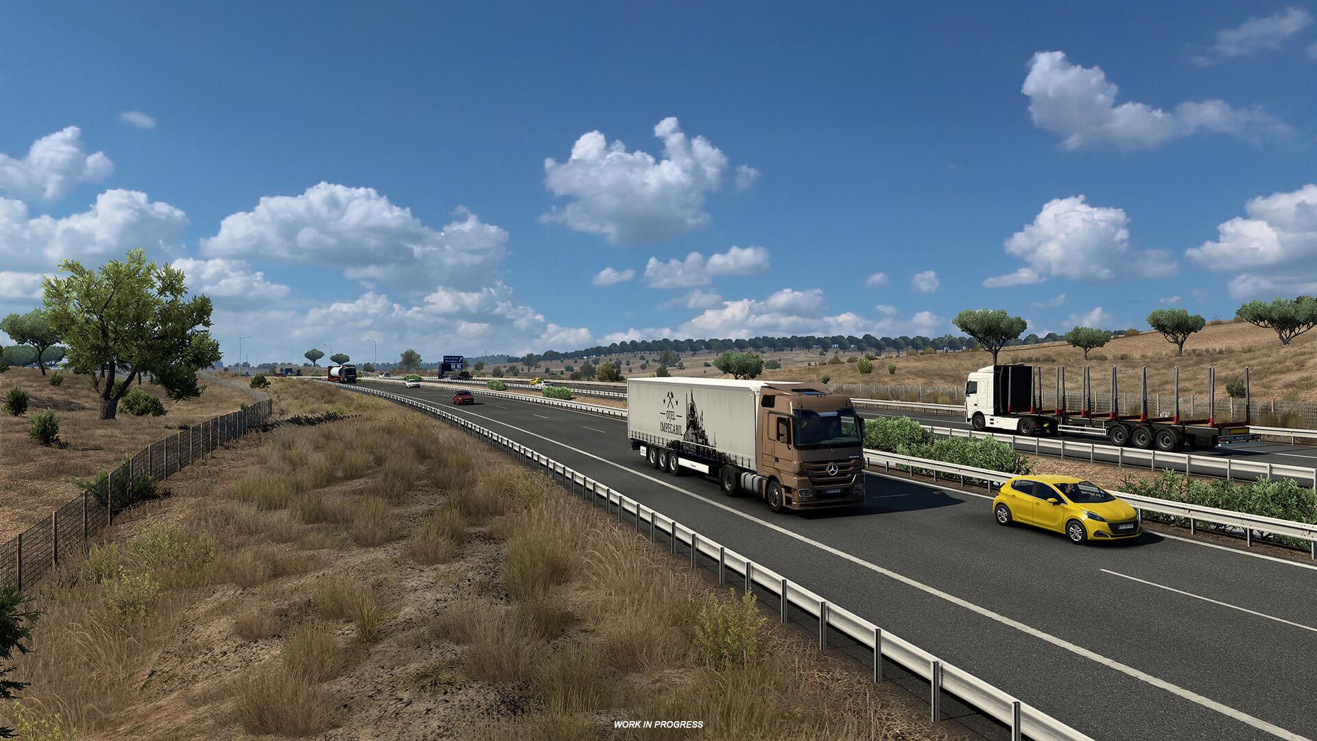 Euro Truck Simulator 2 Iberia Rocas y vegetacion 13