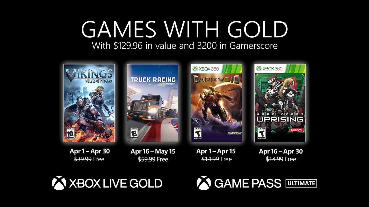 Xbox Gold de abril 2021