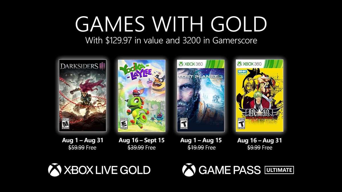 Xbox Gold de agosto 2021