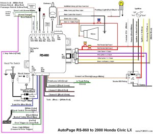 Thread Autopage 860 2000 Honda Civic Wiring Diagram Help