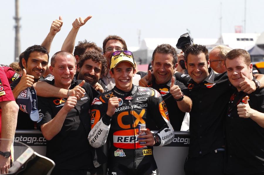 Marc Márquez celebra su victoria en el Gran Premio de Alemania de Moto2