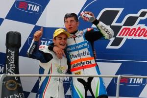 Maverick Viñales en el pódium del Gran Premio de Italia