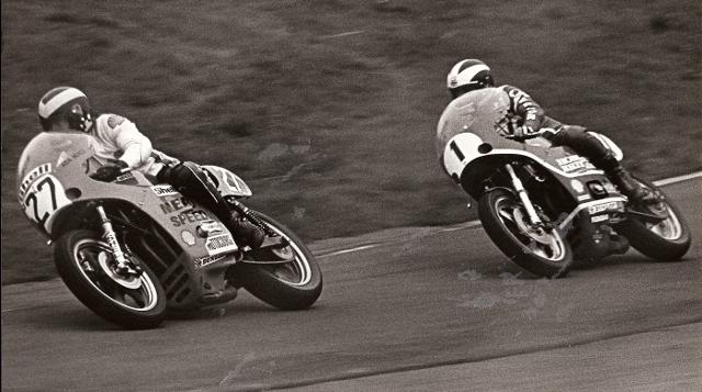 1977 Mallory Park on the TT Formula 1 Bike