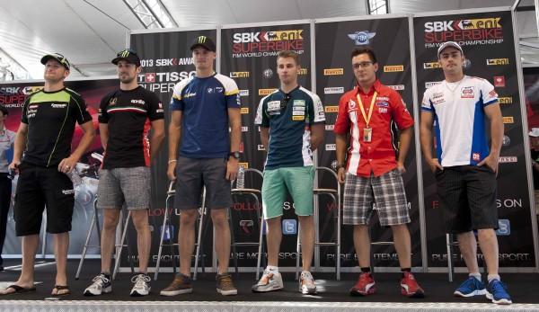 WSBK Pre-event riders
